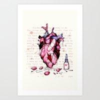 Wild Horses Broken Heart Art Print