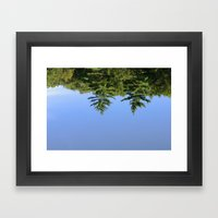 Reflecting at Farrar Pond 1 Framed Art Print
