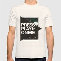 Pressplayonme #2  Mens Fitted Tee Natural SMALL
