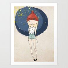 Ange - Fashion illustration Art Print
