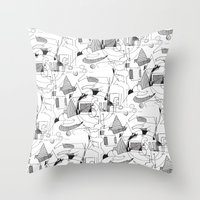 Drawing Collage Throw Pillow