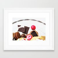 Candies and Cookies Framed Art Print