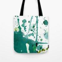 emerald green splash Tote Bag