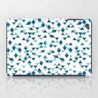 Triangles Blue Repeat iPad Case