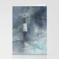 Night Storm At Tybee Lig… Stationery Cards
