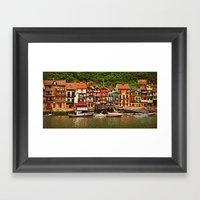 Little Fishing Village Framed Art Print