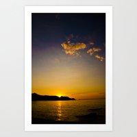 Sun Down Art Print
