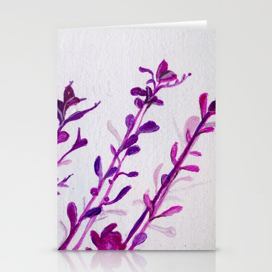 Pink Stems Stationery Card