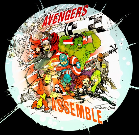 "Avengers Assemble! - a ""you're COLOR"" promo Art Print"