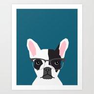Hadley  - French Bulldog… Art Print