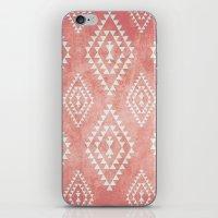 mint & coral tribal pattern (2) iPhone & iPod Skin