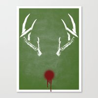 Rudolph The Bloody Nosed… Canvas Print