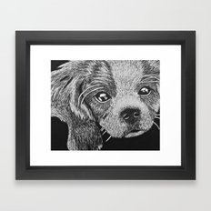 Cavalier puppy Framed Art Print