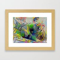 Colorful Angie Framed Art Print