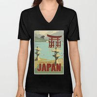 Kaiju Travel Poster Unisex V-Neck