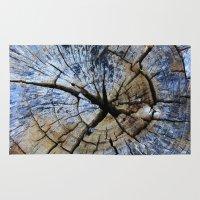 Old Elm Tree Stump Rug