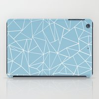 Abstraction Outline Sky Blue iPad Case