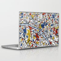 paris Laptop & iPad Skins featuring Paris by Mondrian Maps