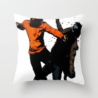 Zombie Fist Fight! Throw Pillow