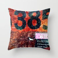 Rusty Numbers Throw Pillow