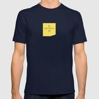 Be right back Mens Fitted Tee Navy SMALL