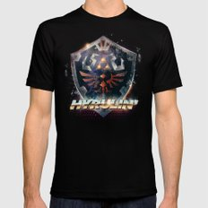 Yeah she sees my Hyrulin' - 80's Legend of Zelda Shield Mens Fitted Tee Black SMALL