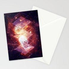 Shining Nebula - Red Stationery Cards