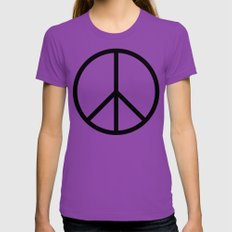 CND Peace Symbol Womens Fitted Tee Ultraviolet SMALL