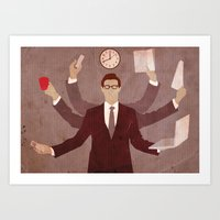 Multitasking Art Print