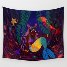 Tropical Mermadia Wall Tapestry
