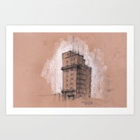 Tagblattturm Stuttgart -… Art Print