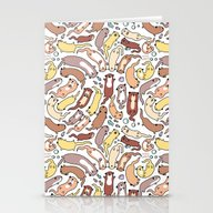 Adorable Otter Swirl Stationery Cards