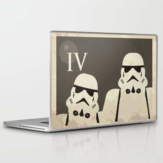 Star Wars Minimal Movie Poster Laptop & iPad Skin