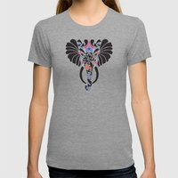 Asian Elephant Womens Fitted Tee Tri-Grey SMALL