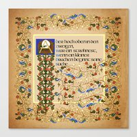 But High in the Branches German version Canvas Print