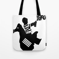Riding Rooster  Tote Bag