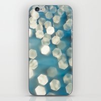 Blue sparkles iPhone & iPod Skin