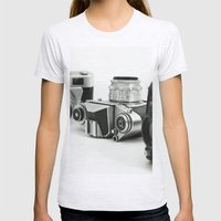 Cameras Womens Fitted Tee Ash Grey SMALL