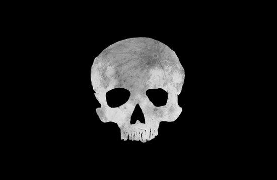 skull Moon Art Print