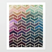 Chevron iKat Art Print