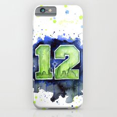 12th Man Seahawks Seattle Go Hawks Art iPhone 6 Slim Case