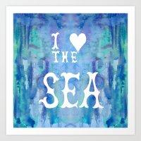 I Love the Sea 2 Art Print