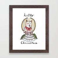 hello christmas Framed Art Print