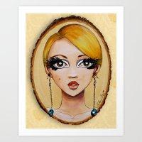 Edie Eyes Art Print