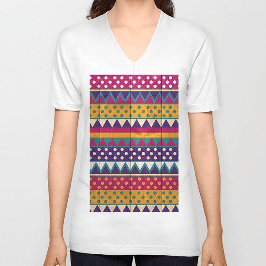 Mexican Pattern V-neck T-shirt