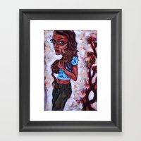 Fiona And The Ferret Fox Framed Art Print