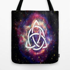 galaxy with triquetra  Tote Bag