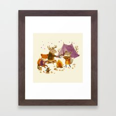 Critters: Fall Camping Framed Art Print