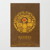 Raiders of the Lost Ark Poster Canvas Print