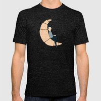 Ze Croissant Moon Mens Fitted Tee Tri-Black SMALL